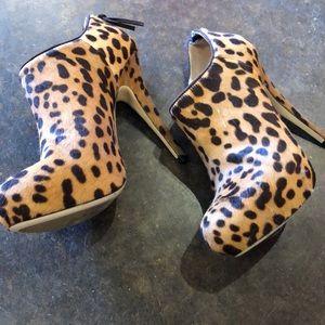"""Miu Miu Shoes - Miu Miu leopard pony fur 4.75"""" heels 35"""